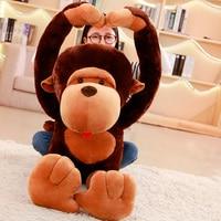 Giant 80/105/130cm Super Funny Orangutan Plush&Stuffed Toy Cute Monkey Diamond Cartoon Doll Birthday Gift For Kids Children