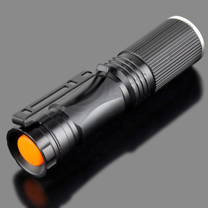 2pcs High quality 3 Colors ZOOM lanterna Torch light mini LED Flashlight Strong Lumens Zoomable Penlight use 14500/AA professional led flashlight cree q5 strong lumens black zoomable led torch lantern 3 models lanterna led penlight free shipping