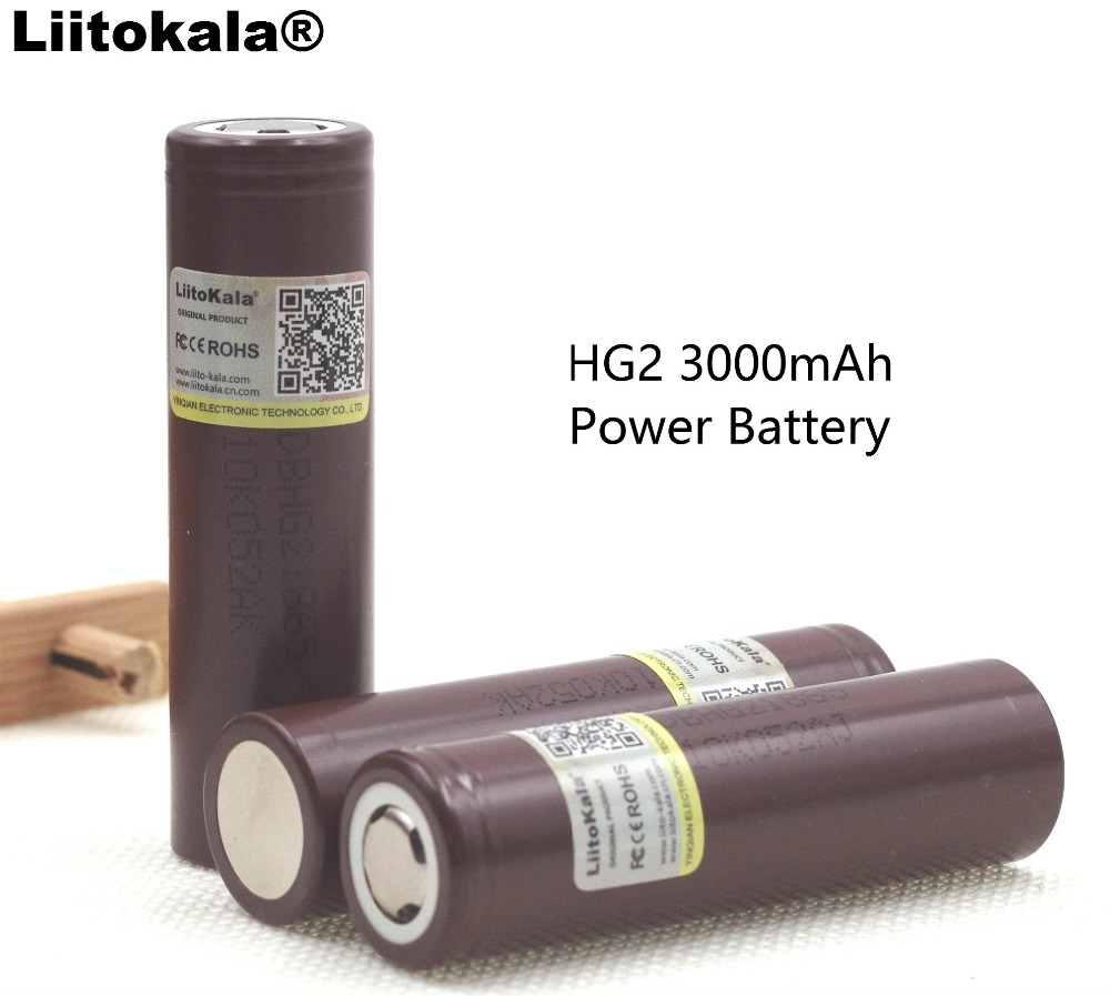 Liitokala New Original HG2 18650 3000mAh battery 18650HG2 3 6V discharge 20A dedicated E cigarette Power battery in Replacement Batteries from Consumer Electronics