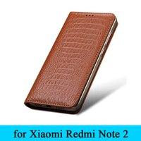 For Xiaomi Redmi Note 2 Case Original Crocodile Grain Genuine Leather Phone Case Cover For Xiaomi