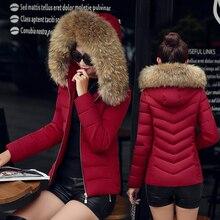 2016 новый зимний меховой воротник женщин короткий параграф хлопка платье Тонкий был тонкий слой Корейской зимнее пальто