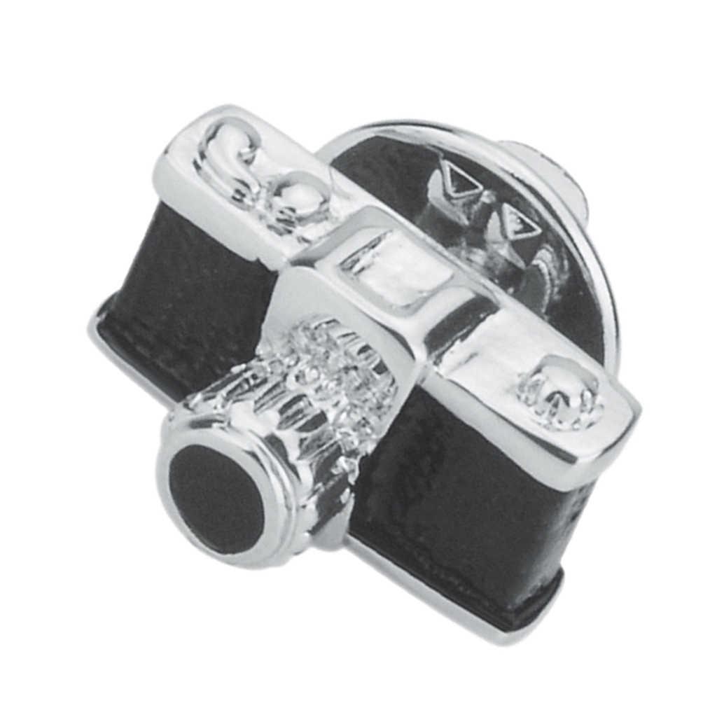שחור רטרו מצלמה סיכת תכשיטי חליפה וזר פרחים סיכת צווארון סיכת Breastpin עבור גברים נשים חתונת סיכה