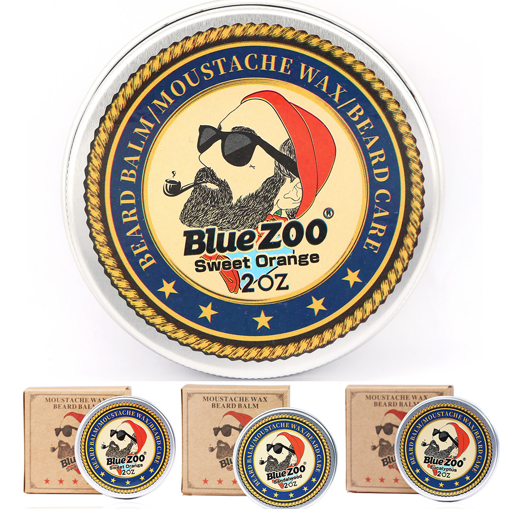 Blue zoo 3 flavors Hot selling beard care product natural beard balm styling product beard wax