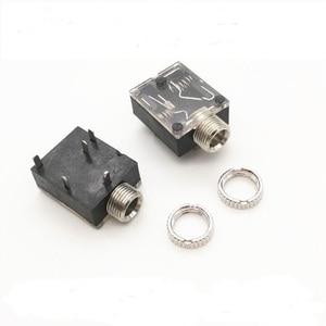 Image 1 - 100 PCS 3,5mm 3,5mm Stereo Audio Stecker Weiblich 5 Pin DIP Kopfhörer Jack Buchse PJ 324 PJ324
