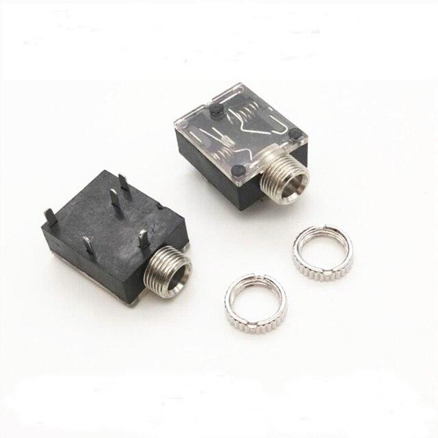 100 pcs 3.5mm 3.5mm 스테레오 오디오 커넥터 여성 5 핀 dip 헤드폰 잭 소켓 PJ 324 pj324