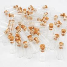 10 шт 23x12 мм 1 мл бутылки желаний сообщение прозрачные пробковые стеклянные бутылки флаконы для украшения свадьбы праздника желаний маленькие стеклянные бутылки