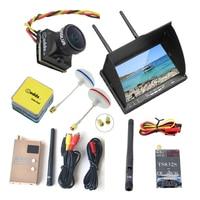LCD5802D DVR FPV Monitor 7 Inch+FPV 5.8GHz Clover Mushroom Antenna RP SMA+FPV Camera Caddx Turbo EOS2 16:9 NTSC+RC832S+TS832S