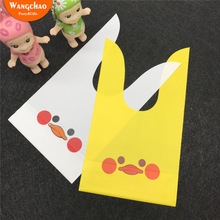 25pcs/lot Plastic Cartoon Animals Packing Bag Kawaii Baby Shower Girls Boys Gifts Happy Birthday Candy Cookie Supplies