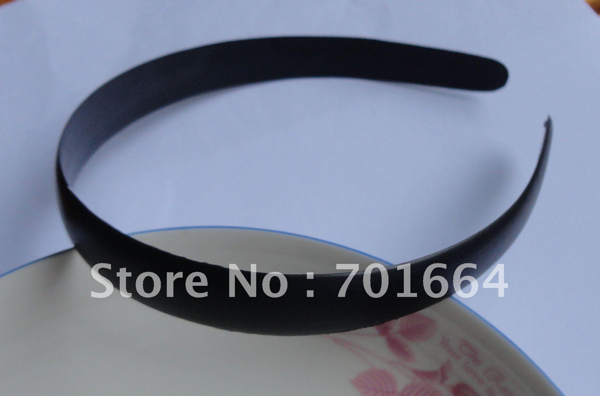 10 шт. 17 мм полукруглая поверхность черные простые пластиковые повязки для волос Необработанные без зубов, как аксессуары для волос DIY