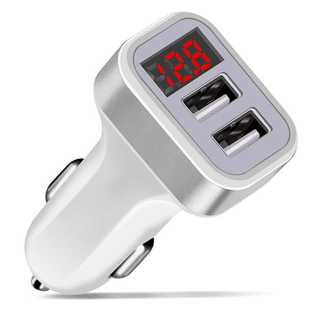 Auto Ladegerät Für iPhone 11 Pro XS Max Samsung Xiaomi Telefon Lade Adapter Dual USB Ports Led-anzeige Auto- ladegerät USB Ladegeräte