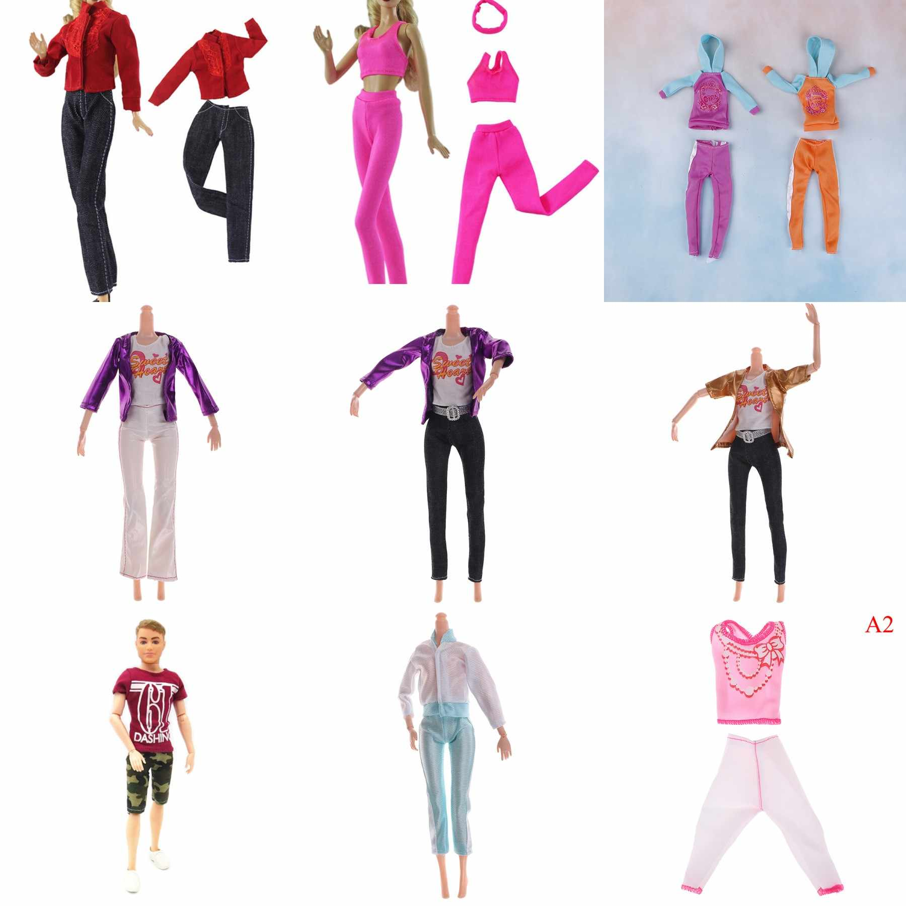 Fashion Sport Outfit Casual Daily Wear T-Shirt Trousers Colorful Cap Yoga Suit Accessories Clothes For Doll Baby Gift Toy
