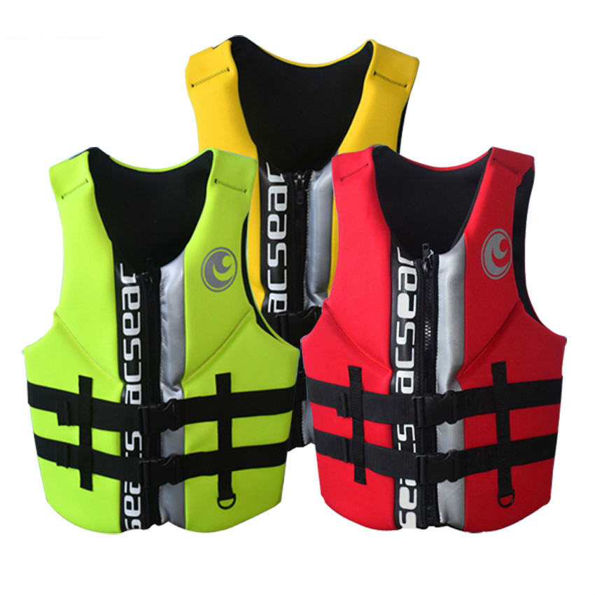 Hisea professional neoprene adult life vest jackets water floating surfing snorkeling fishing racing Portable swimming vest 2 stearns pfd v2 series neoprene life jackets