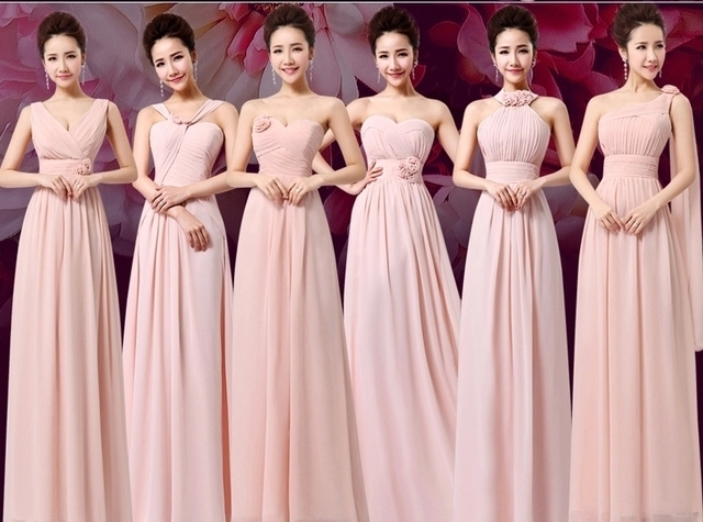 Vestidos para damas de honor en color coral