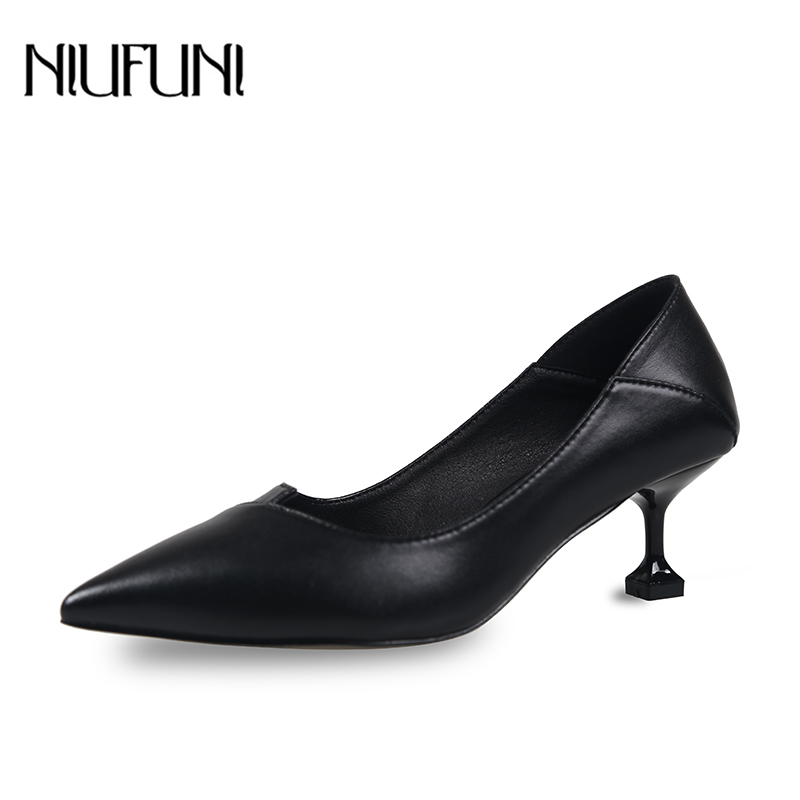 Women Classic Pumps 6 Cm High Heels Single Dress Shoes Shallow Slip On Pointed Toe Pumps Professional Work Shoes Lightweight
