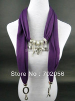 Charm Soft Charm Pendant Scarves Jewelry Scarves Fashion Jewelry Mixed Colors 20pcs Lot 2886