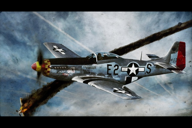 North Fighter P51 Mustang Aircraft Wallpaper Kc914 Living Room Home
