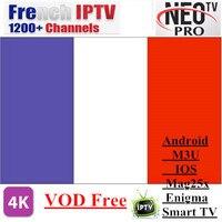 Promociones Neotv PRO 1200 Canales Árabe IPTV Francés Europa Bélgica código suscripción IPTV LiveTV M3U MAG254 Android Smart TV