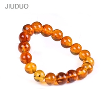 JIUDUO Unique super burst 100% Natural amber beeswax multi-treasure hand string bracelet lady genuine noble grade special BT006