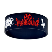 Promo Gift 1PC 1 Wide Band THY Art Is Murder Silicone Wristband For Music Gift