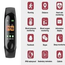 Кровяное давление M3C умный Браслет измерение сердечного ритма шагомер водостойкий и износостойкий спортивный браслет для Android Apple