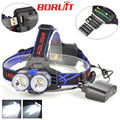 USB Rechargeable Head lamp Linterna 4 Mode 2 T6 Led headlamp 2x XML T6 LED 4000 lumens frontal linterna cabeza by AAA 18650 AA