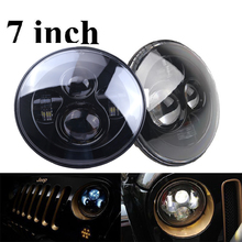 7″ Inch 80W LED Projector Headlights H4 H13 High Low Beam Light Lamp Accessories For Jeep Wrangler JK LJ TJ CJ Harley Daymaker