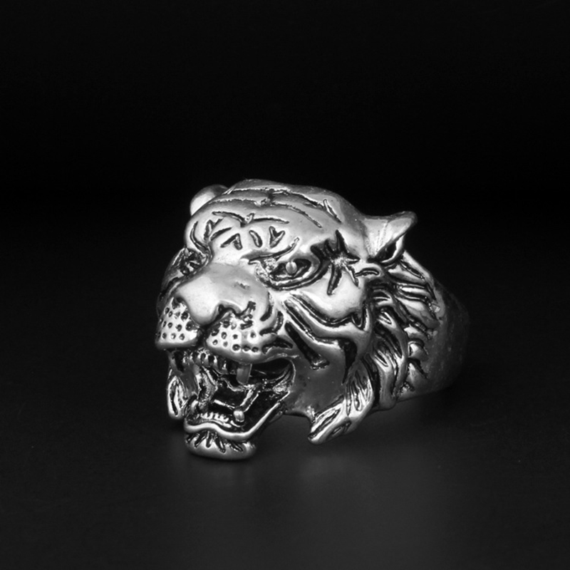 2019 Fashion Casual Leopard Cool Men Leopard Alloy Ring Tiger Rings  Punk Wind Tigers Ring Individual Funny Personality Jewery monochrome