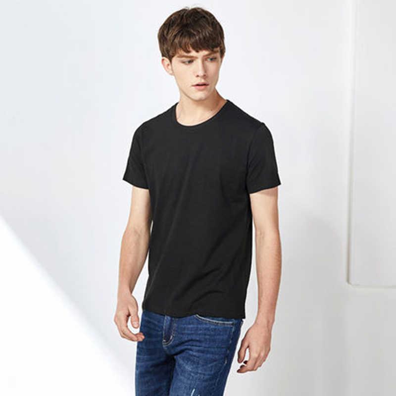 SEMIR mężczyźni T koszula moda 2020 bawełna męskie koszulki biała koszulka koszula w stylu casual, letnia koszulka męska Camiseta Masculina odzież Top
