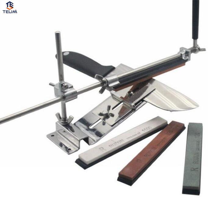 Profesional de acero inoxidable cuchillo afilador de la herramienta de la máquina de afilar accesorios de cocina de cuchillo afilador de