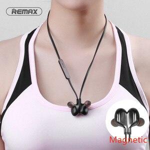 Image 1 - REMAX słuchawki douszne Bluetooth V4.2 słuchawki sportowe Bluetooth z mikrofonem Stereo na telefon z pałąkiem na kark
