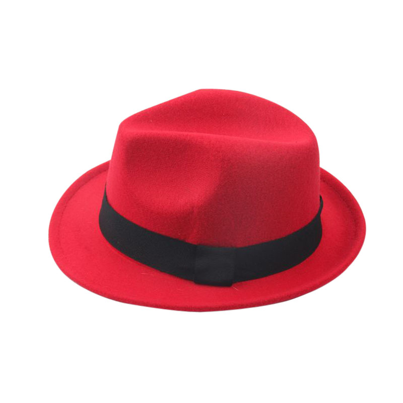 Anak-anak Wol Merasa Snap Topi Penuh Trilby Anak Laki-laki Vintage - Aksesori pakaian - Foto 2