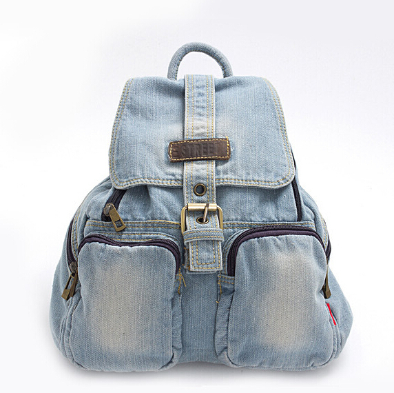stacy bag hot sale good quality women denim backpack lady casual travel bag female leisure bag