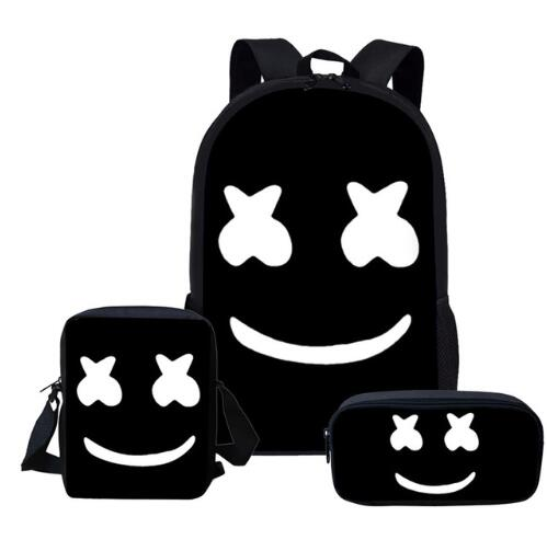 2019-Newest-School-Bags-DJ-Marshmello-Schoolbag-Set-for-Students-Anime-Style-Shoulder-Backpack-Leisure (4)