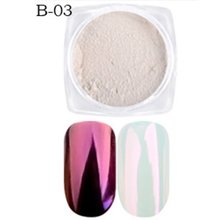 Nail Art Shell Powder Mirror Rainbow Candy Color Discolored