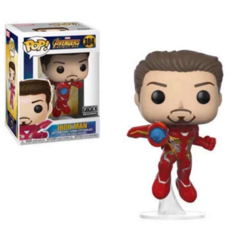 FUNKO POP Marvel Avengers: Endgame IRON MAN 304# PVC Action Figure Collection Model toys for Children Christmas Gift With Box