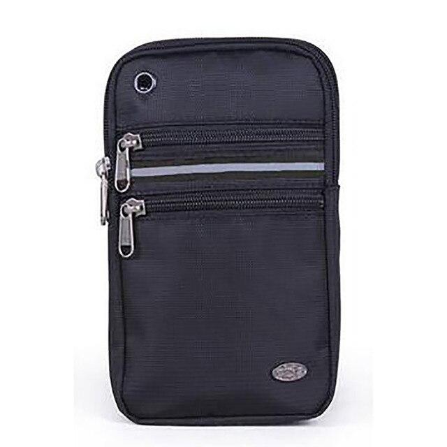 Alta Qualidade Mulheres Homens Oxford Pequeno Ombro Crossbody Bag Armband Bolsa de cinto de 6.3/7 Polegada Caso Do Telefone Móvel Celular Da Cintura Fanny Pack