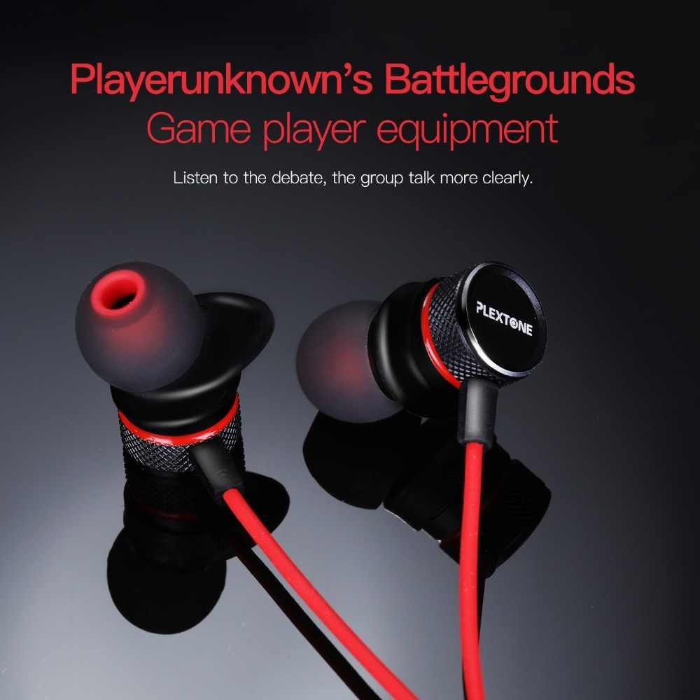PLEXTONE الثقيلة باس السلكية سماعة في الأذن سماعات مع ميكروفون العالمي مريح ياربود التحكم في مستوى الصوت ستيريو سماعات رأس للألعاب