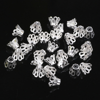 6MM 1500Pcs/lot Silver/Gold/Bronze Plated Goblet Metal Bead Caps Jewelry Findings