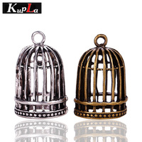 Vintage Metal Zinc Alloy 3D Birdcage Charms Diy Jewelry Birdcage Pendants Charms for Jewelry Making Wholesale 6 Pieces/lot C5472