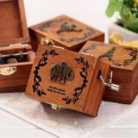 4 Songs Music Boxes Vintage Wood Music Box DIY Craft Vintage Musical Gold Hand Hurdy Gurdy Swan Lake Edelweiss Canon Lullaby