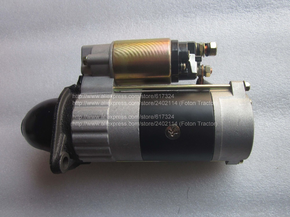 Fengshou estate 180-3, FS184 with engine J285T, the starter motor, part number: hubei shenniu 304 tractor with engine 390t hubei brand engine the starter motor part number