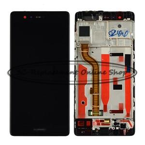Image 2 - 100% 화웨이 p9 EVA L09 EVA L19 lcd EVA AL00 디스플레이 + 터치 스크린 디지타이저 어셈블리 (프레임 포함) 용 블랙/화이트/골드 테스트