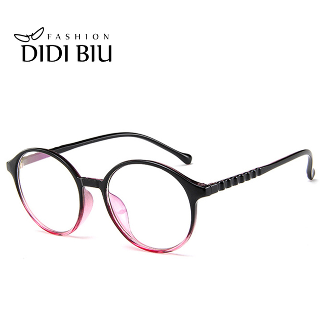 DIDI New Round Glasses Women Clear Lens Vintage White Acetate Frame ...