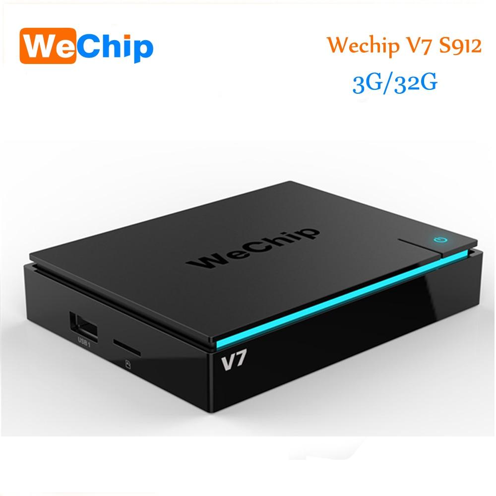 Newest Wechip V7 Android 7.0 TV Box S912 Octa-core KODI 17.3 3G 32G TV BOX Wireless 2.4G+5G Bluetooth With WIFI Media Player zidoo x6 android 5 1 tv box rk3368 octa core kodi 3d mini pc
