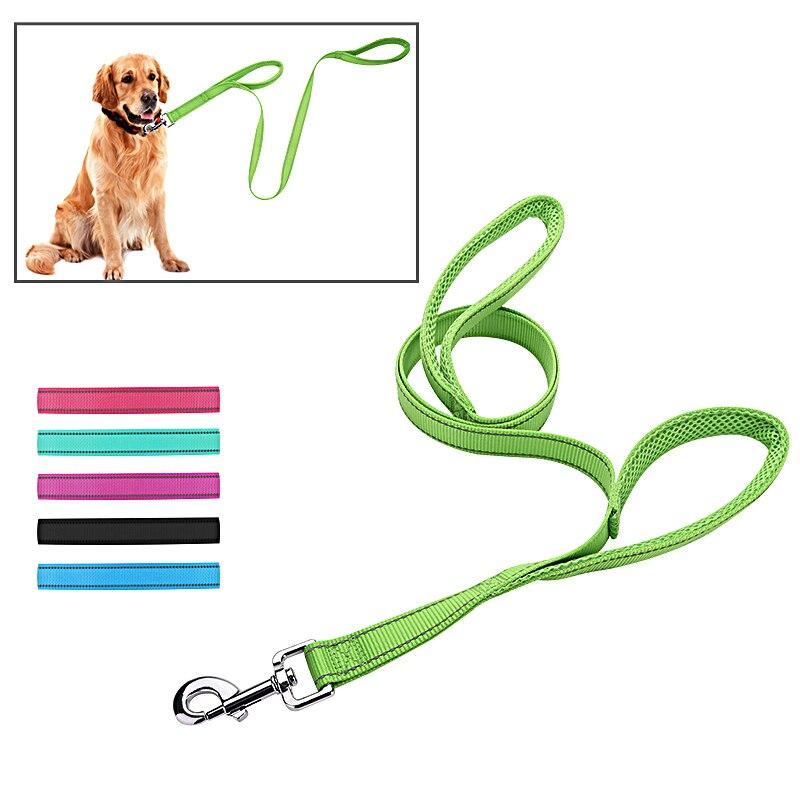 مقابض مزدوجة نايلون مقود الكلب عاكس - منتجات الحيوانات الأليفة