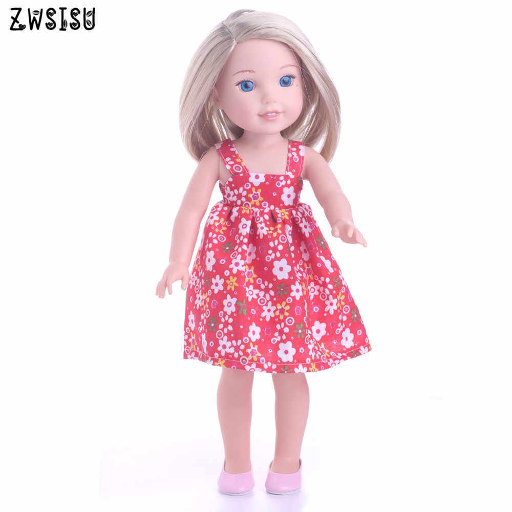 Die rot nette kleid, geeignet 18 zoll Amerikanischen Puppe nette Kleidung kleid Passt 43 cm baby puppen die beste geschenk für kind m15