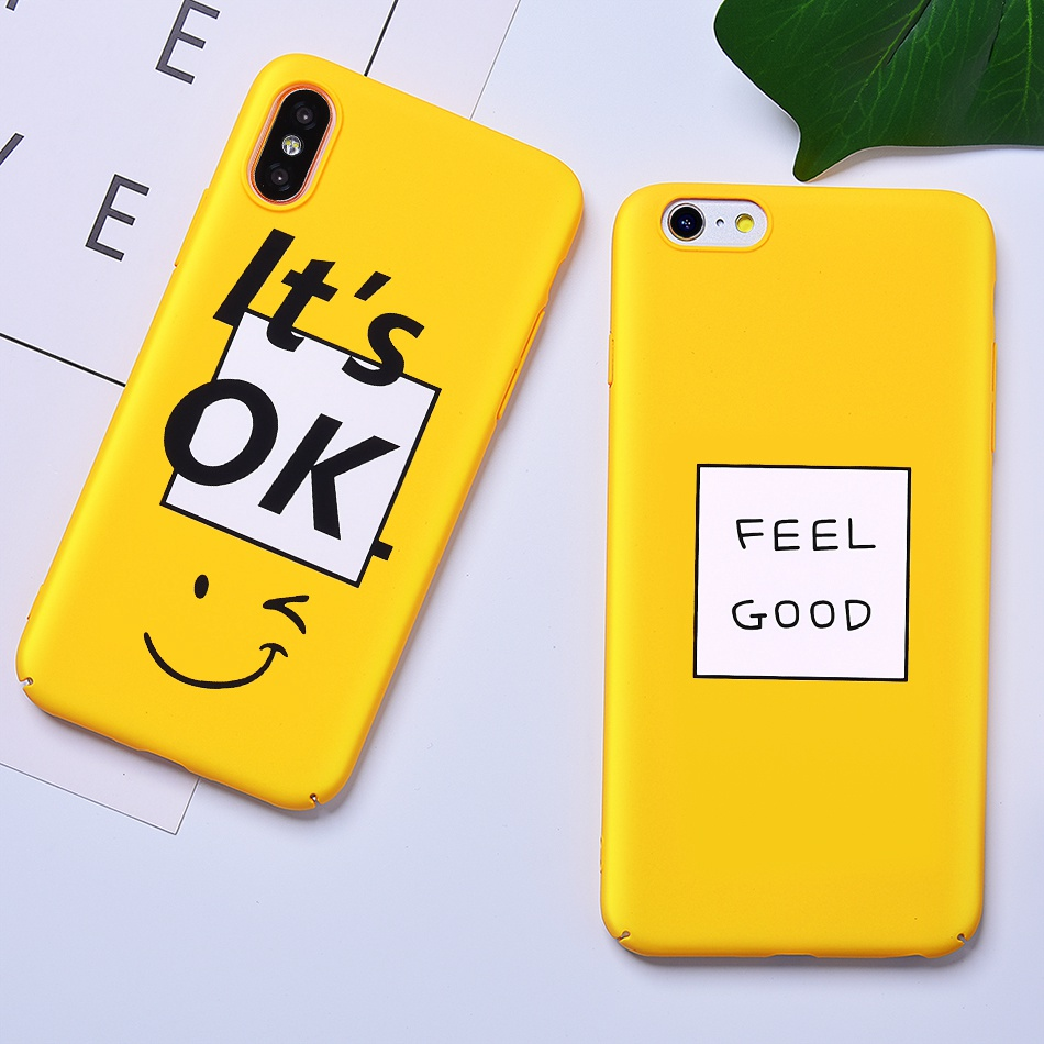 TOMKAS Funny Slogan Phone Case for iPhone 6 6S 7 8 Plus Case for iPhone X 6 S Yellow Back Cover Case for iPhone 7 Plus Coque (1)