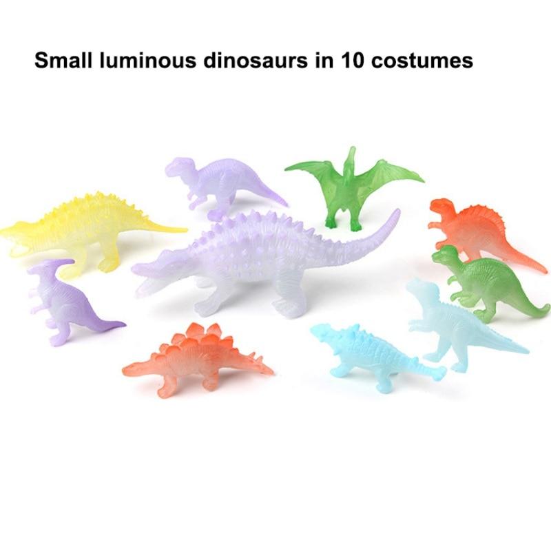 12 pcs/set Night Light Noctilucent Dinosaur Figure Gift Toy for Children