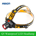 LED Headlamp Cree Q5 Headlight Waterproof Built-in Lithium Battery Rechargeable Head lamp 3 Modes Zoomable Flashlight + Charger