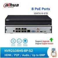DH NVR NVR2108HS 8P S2 H.264 + 8CH 8POE сети видео Регистраторы Full HD 1080 P видеонаблюдения NVR до 6MP запись